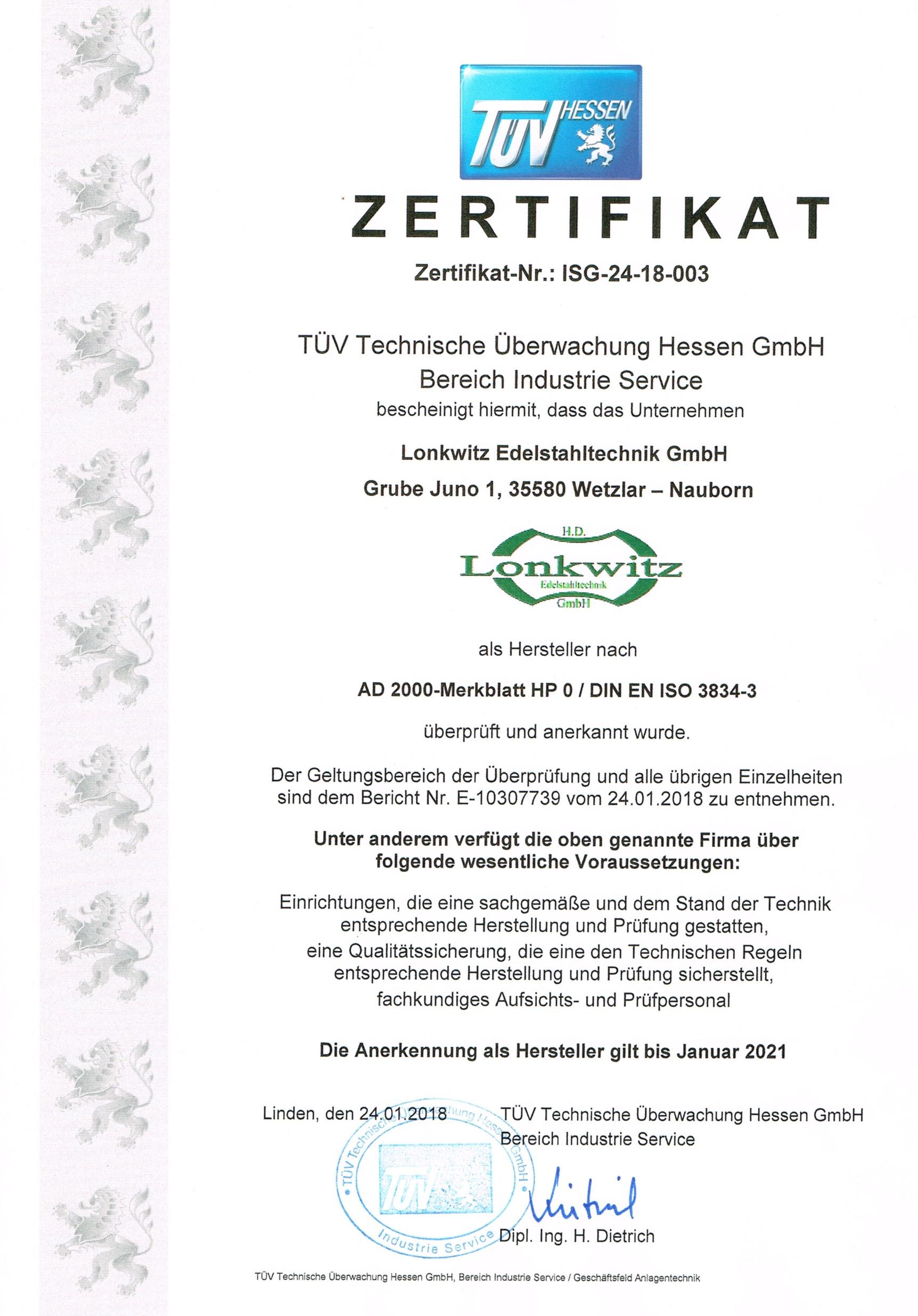 Über Uns - Lonkwitz Edelstahltechnik GmbH