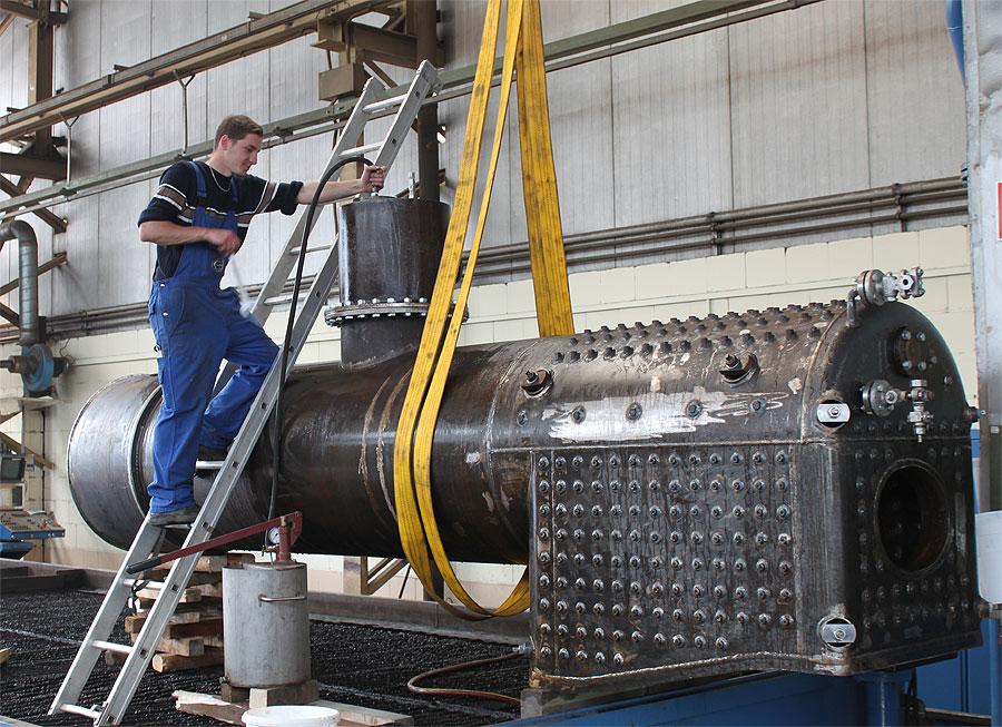 Dampfkessel einer Dampflokomotive - Lonkwitz Edelstahltechnik GmbH